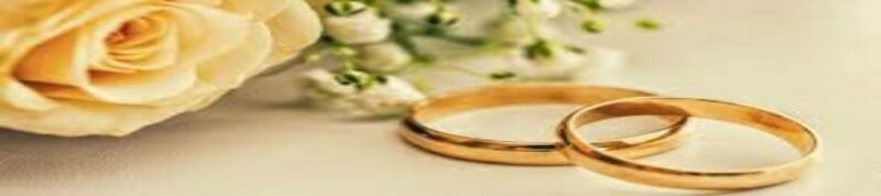 Matrimonio, rosa e fedi